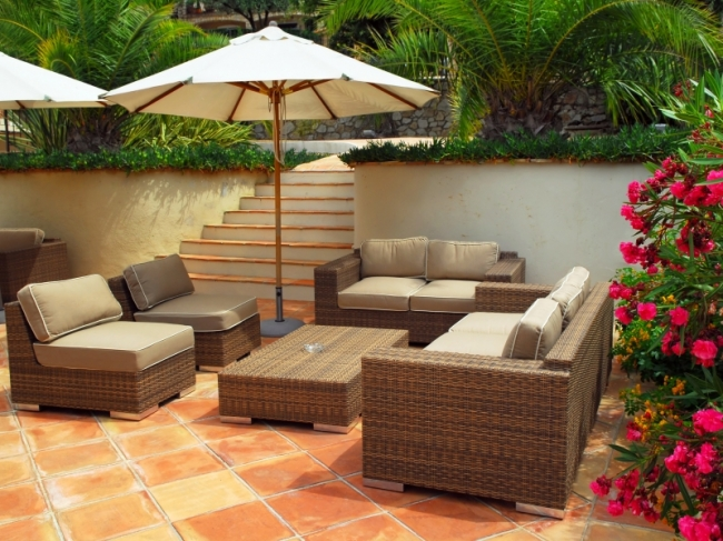 furnishing your garden is rather like furnishing a room youre creating comfortable places to put your feet up while blending colours styles and textures